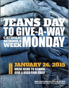 Jeans Day for CSW Monday, January 26