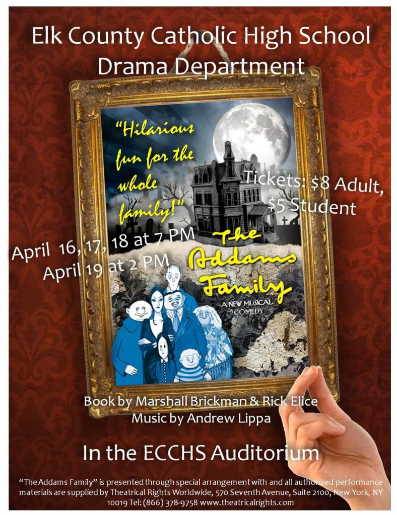 "ECCHS Drama Dept. presents ""The Addams Family"" @ ECCHS Auditorium"