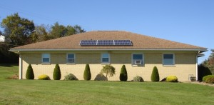 Solar electric system installed and operating at ECCSS Administration Building