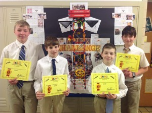 SMCMS K'Nex Team Headed to State Competition