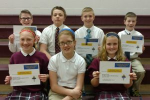 6th graders place first in regional religion competition