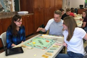 Personal Finance class tests their knowledge in Monopoly tournament