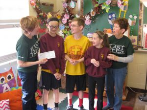 Fourth grade students donate to St. Marys Shade Tree Commission