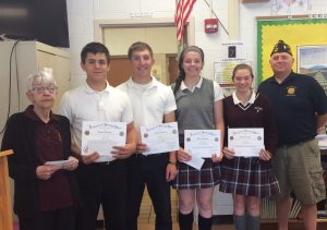 ECC students fare well in area VFW audio essay contest