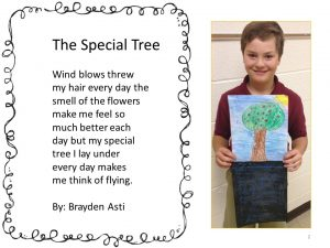 Fourth graders study and write poetry