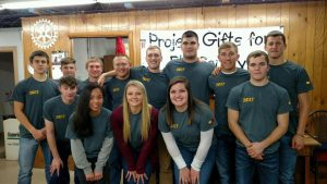ECC volunteers at Project Gifts for Elk County