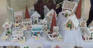 Middle school students create Christmas village as part of elective class