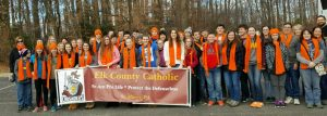 ECC and SLS students and chaperones participate in 2017 March for Life