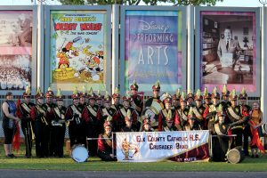 Marching band represents ECCHS at Disney World parade