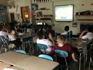 "St. Boniface students participate in ""Skype in the Classroom"" session"