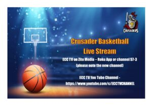 Crusader Basketball Live Stream for Saturday 1/16/21